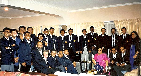 Reception for the Indian cricket team at India House in New Zealand in 2002.