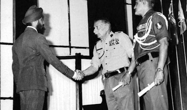 Baljit Ahluwalia with Field Marshal Sam Manekshaw.