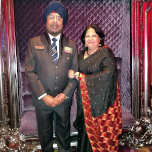 Baljit Ahluwalia with his wife, Mrs. Ahluwalia.
