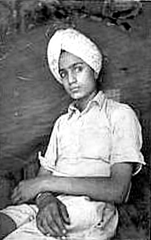 Sangat Singh in his youth.