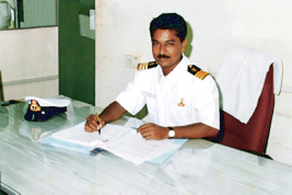 Mahendra Rathod at work in Customs office
