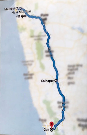 Times Women's Drive 2019 road map from Mumbai to Goa