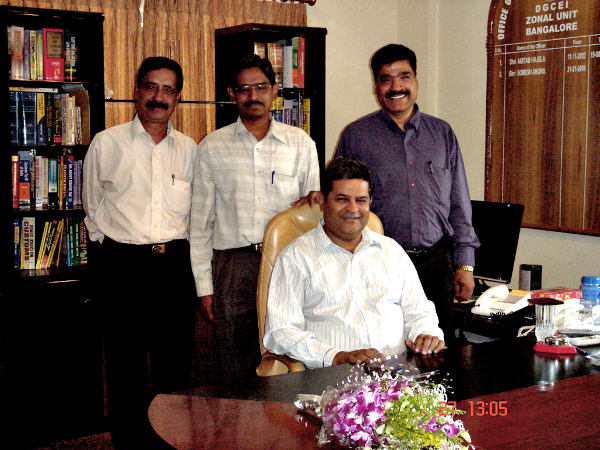 March 28, 2008, my last working day with the Indian Revenue Service at DGCEI, Bangalore.