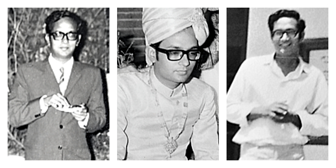 The attire of my youth: a two-piece suit for my UPSC viva voce, a Sherwani for my marriage, and a simple shirt and pant for everyday wear.