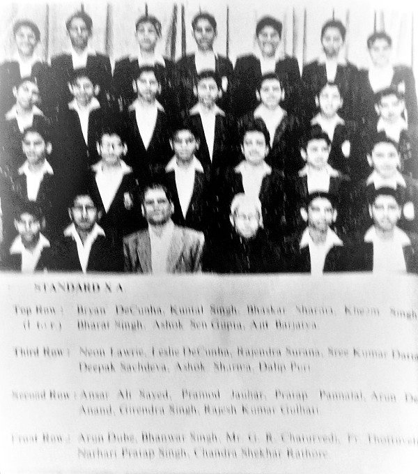 Standard X A of the 1964 batch of St. Xavier's School, Jaipur.