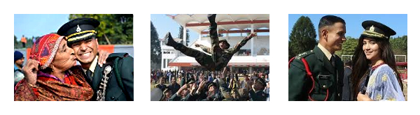 Scenes of joy at a modern-day Passing Out at the Indian Military Academy (IMA), Dehradun.