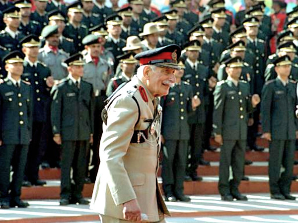 Field Marshal Sam Manekshaw (1914 – 2008) at the Indian Military Academy (IMA), Dehradun with Gentlemen Cadets.