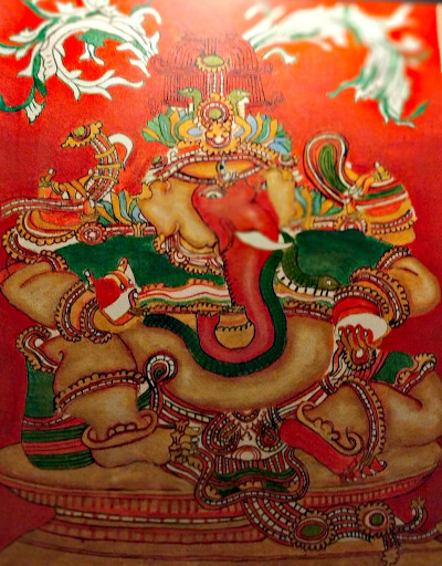 Ganesha, the Vighnaharta. Acrylic painting by Vatsala Rao